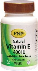Freeda FNP Vitamin E 400 IU with Mixed Tocopherols - 180 Tablets
