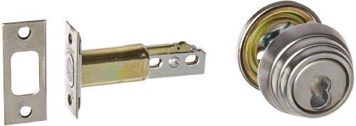 Arrow Lock E Series Stain Chromium Occupancy Indicator Deadbolt Auxiliary Lock with Interchangeable Core, 1-3/8