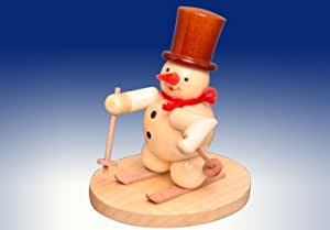 Snow man ski runner in nature Christmas figures Seiffen Erzgebirge NEW 198/113N