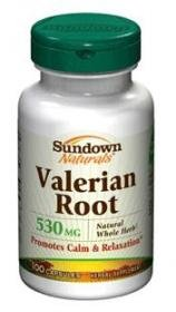 Sundown Valerian Root Whole Herb 530 mg Caps, 100 ct