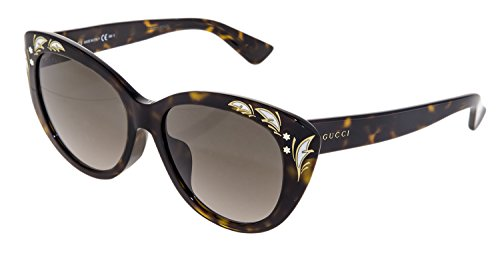 GUCCI GG3828/F/S Brown Havana Mother Of Pearl Oversized Cat Eye Sunglasses ASIAN FIT - Cat Eye Oversized Gucci Sunglasses