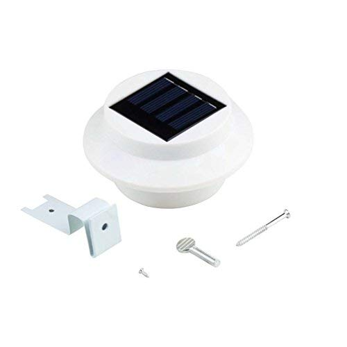 Solar Gutter Light, Outdoor Wireless LED White Solar Security Fence Light with Light Sensor, Waterproof Solar Wall Light, for Garden, Front Door, Backyard, Driveway, Garage, Patio (1pcs) [並行輸入品] B07R8WBY1S