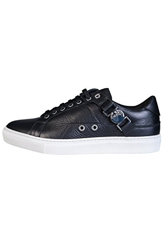 Hombre Zapatillas Black Low Saddle Collection Negro Top Versace anIZ6qw