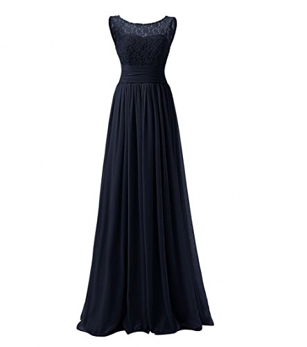 Long Beauty Chiffon Lace AK Prom Dresses Dress Evening Women's Navy F4BEqf