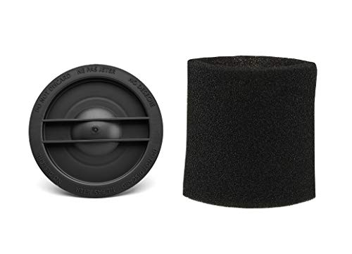 Shop-Vac 3183000 Small Cartridge Filter Retainer Nut & Shop-Vac 90526 Small Foam Filter Sleeve
