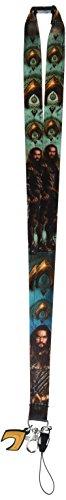 DC Aquaman Lanyard with Logo Charm Novelty Accessory -