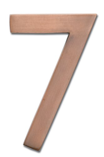 Architectural Mailboxes 3585AC-7  Brass 5-Inch Floating House Number 7, Antique Copper by ARCHITECTURAL MAILBOXES