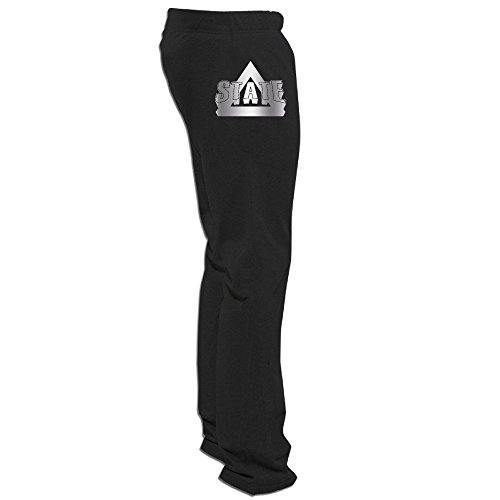 Delta State Statesmen Platinum Logo Men's Fleece Pant Black