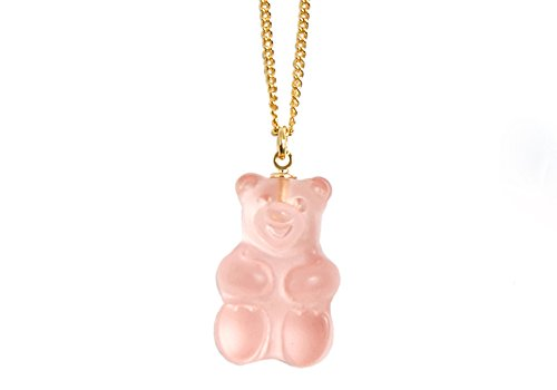 Peach, mint, lavender flavored gummy bear necklace - Japan design - cute style - New (Peach (light pink)) New Cute Japan
