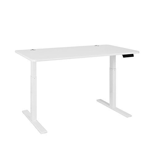 Autonomous SmartDesk with Electric Adjustable Height 28 - 46 inches (Single Motor), White Frame - White Classic Table ()
