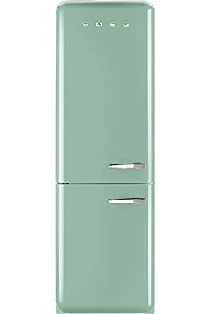 Smeg fab32lfg 5039s retro style fridge freezer amazonco for Kühl gefrierkombination retro look