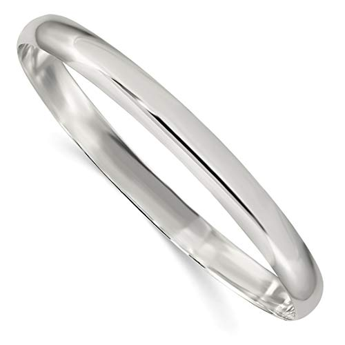925 Sterling Silver 6.25mm Solid Slip On Bangle Bracelet Cuff Expandable Stackable Fine Jewelry Gifts For Women For Her