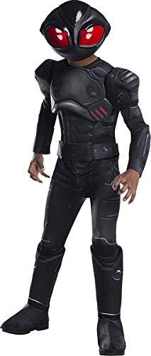 Rubie's Boys Aquaman Movie Child's Deluxe Black Manta Costume, Large ()