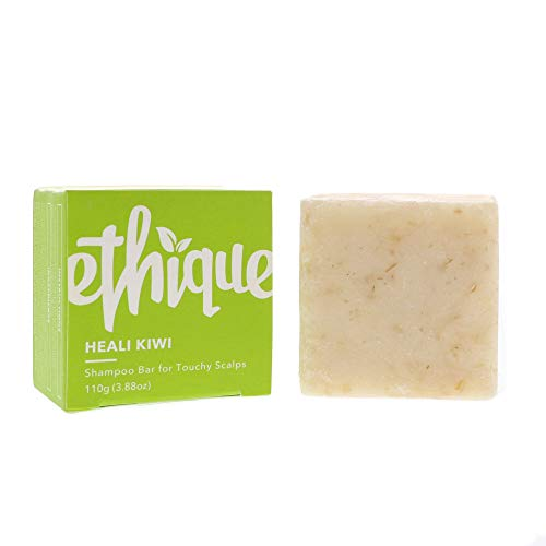 Ethique Eco-Friendly Solid Shampoo Bar for Dandruff or Touchy Scalps, Heali Kiwi 3.88 oz