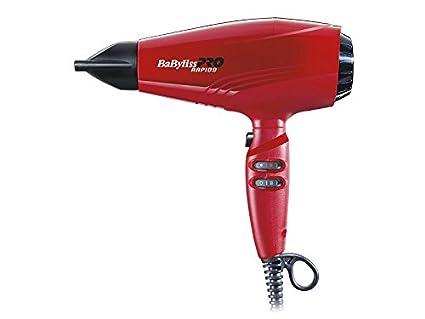 Babyliss Pro - Secador de pelo, 2200 W, color rojo