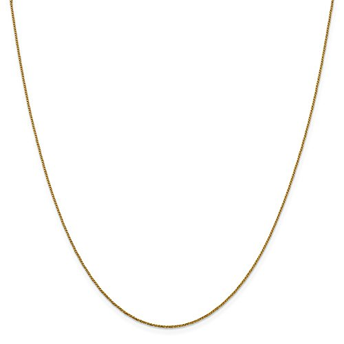 Leslie's Real 14kt Yellow Gold .9 mm D/C Twisted Box Chain; 16 inch ()