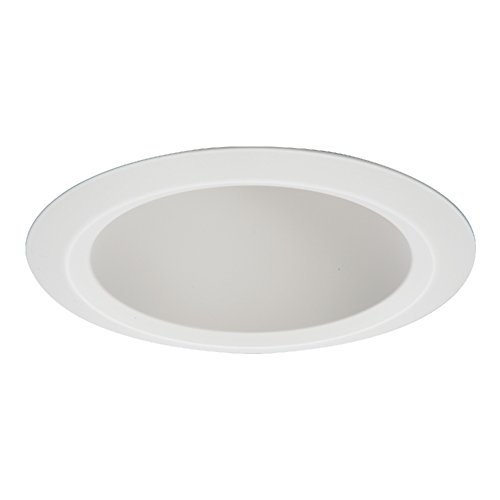 HALO Recessed 5121WH Shallow Full Cone Reflector Self-Flange Ring, 5 In, White