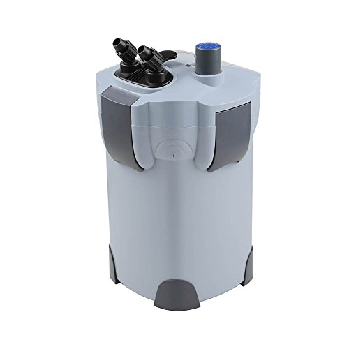 Tank Canister Filter (Polar Aurora Free Media 3-stage External Canister Filter with 9-watt UV Sterilizer for Aquarium 265 GPH Builtin Pump Kit Canister)