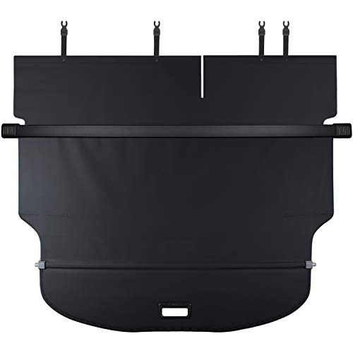 CUMART Jeep Cherokee Retractable Cargo Cover Rear Trunk Security Shield Luggage Shade 2019 Black (Not for Grand Cherokee)