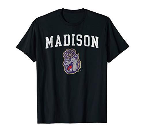(James Madison Dukes Jmu Distressed Madison Design - T-Shirt)