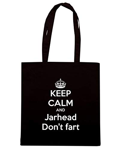 Shopper Shirt JARHEAD DON'T Speed CALM KEEP AND Borsa TKC0489 FART Nera EdAnwqZA1