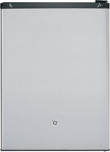 (GE GCE06GSHSB Spacemaker 5.6 Cu. Ft. Compact Refrigerator, Stainless Steel, Reversible)