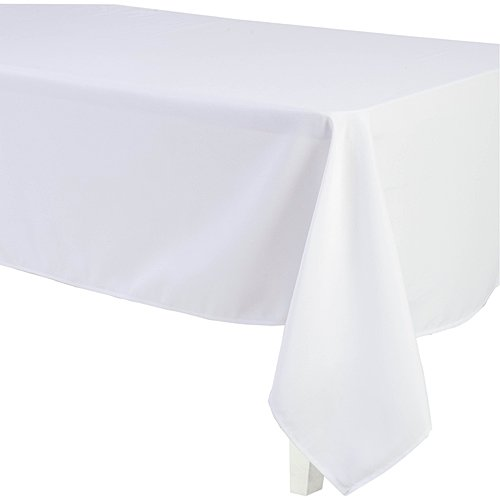 LinenTablecloth 60 x 126-Inch Rectangular Polyester Tablecloth White ()