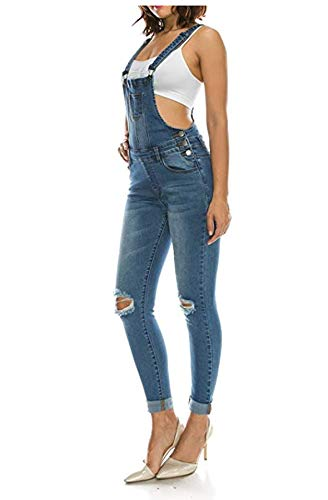 Hot Curves Women's Trendy Slim Fit Skinny Overalls with Spandex (2XL, - Overalls Skinny