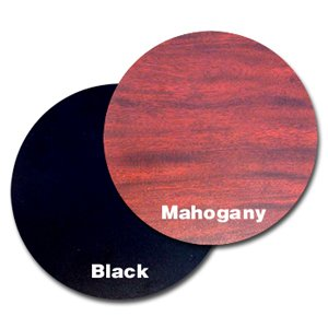 Oak Street Manufacturing MB24R Two Sided Round Tabletop, 24'' Diameter x 1'' Thick, Mahogany/Black by Oak Street Manufacturing