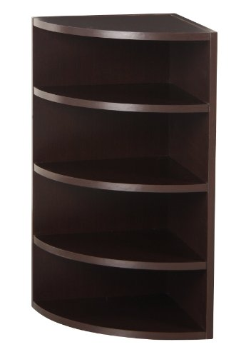 corner furniture. foremost 328009 modular corner radius cube storage system espresso furniture s