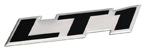 ERPART LT1 Embossed Black on Silver Real Aluminum Auto Emblem Badge Nameplate Compatible with Chevy Corvette Buick Camaro Pontiac Trans AM Caprice SS Impala Cadillac Pontiac Firebird Z28 Camaro Z28 Dash Covers