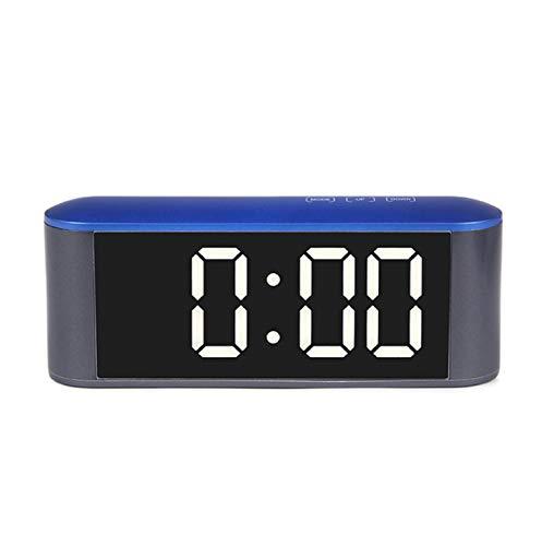 Espejo Reloj Led Reloj Despertador Snooze Night Electrónico ...