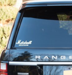 """WHITE Marshall Amp amplifier Decal Sticker Car SUV Laptop 8/"""""""