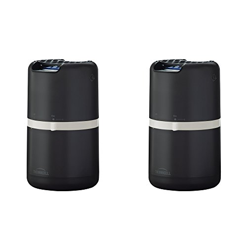 Thermacell Halo Mosquito Repeller - Patio Shield with 12 Hours of Refills (Black) - 2-Pack