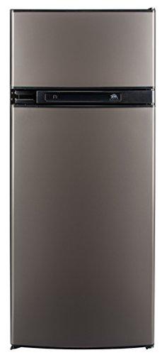 Norcold N3150AGR 3.7 cu. ft. 2 Door Refrigerator (3-Way AC/LP Euro, Right Hand Door Auto LCD Control Grey Doors) (3 Ways Fridge)
