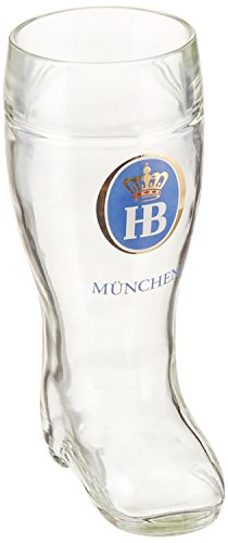 Henry Cornell and Associates 5689 Hofbrauhaus 0.50L Glass Boot, 0.5 L, Clear -