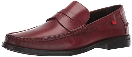 - Marc Joseph New York Mens Genuine Leather Made in Brazil Cortlad Loafer Penny, red brushed nappa 13 M US