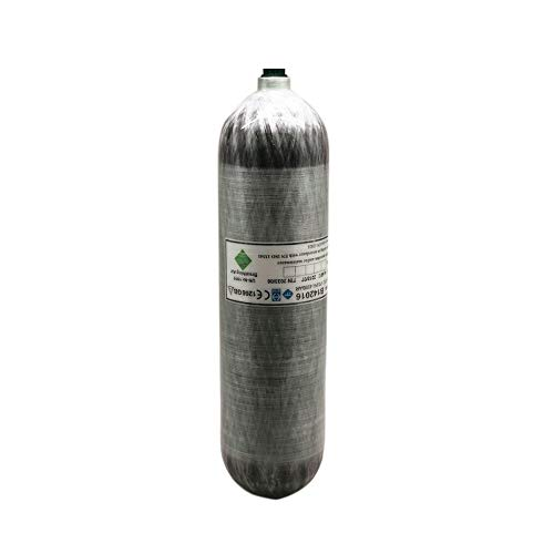 IORMAN 3L 4500psi Carbon Fiber Air Tank & Paintball Fill Station Composite Cylinder for Scuba SCBA PCP Game (Empty Bottle) (3L CE Certified)