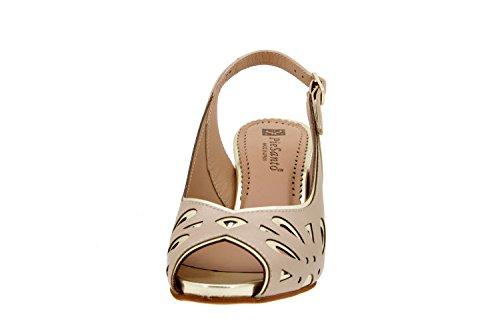 Calzado mujer confort de piel Piesanto 6279 sandalia fiesta zapato cómodo ancho Platino
