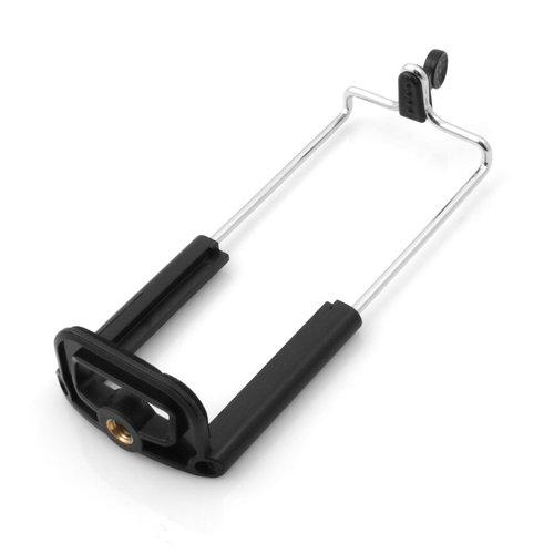 System-S Stativadapter Aufsatz mit Gewinde Halterung Halter Tripod Stativ Adapter Schrauben Klemm Adapter für Tablet PC Phablet 12 - 15 cm