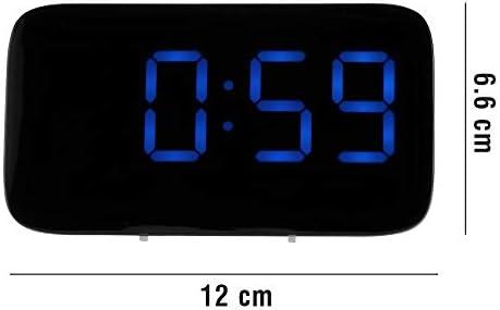 Houkiper Reloj de Alarma Digital, Pantalla de LED Control de Voz ...
