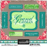 Scrapbook Customs - World Collection - Grand Cayman - Cardstock Stickers - Bon Voyage