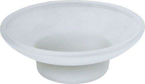 (MODONA Frosted Glass Replacement Soap Dish - ROUND )