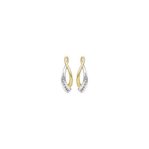 1/5 ct tw Diamond Earring Jacket in 14k White & Yellow Gold