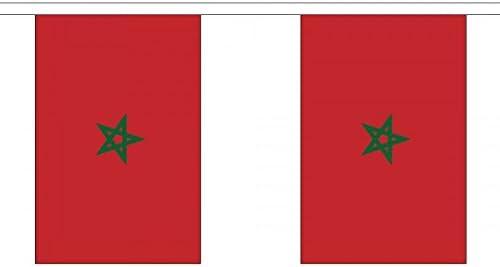 Bandera de Marruecos de 3 metros. Hecha de 100 % poliéster. Ideal como decoración para fiesta, en la casa, pubs, clubes, escuelas: Amazon.es: Hogar