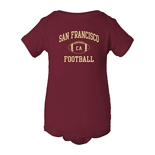 San Francisco Classic Football Arch - American Football Team Sports Infant Onesie - 12 Month - Garnet