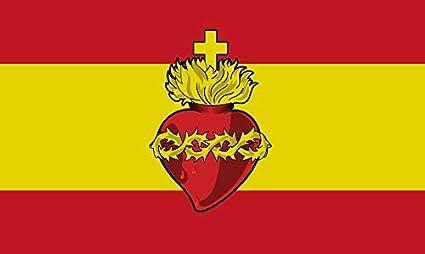 Bandera Sagrado Corazón de Jesus España 150x90cm: Amazon.es: Hogar