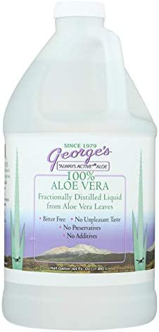 George s Aloe Vera – 64 fl oz – Fractionally Distilled Liquid from Aloe Vera Leaves – Anthraquinone Free