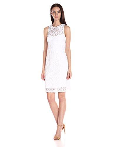 Antique Lace Dress - Nanette Lepore Women's Antique Lace Dress, Ivory, 4