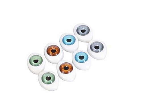 16PCS 4 Color Plastic Oval Hollow Eyes for DIY Sewing Crafting Buttons for Puppet Bear Doll Animal Stuffed Toys (10 x - Oval Eye Shape